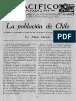 Pacífico Magazine La población de Chile 1919