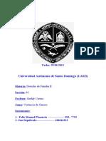 Derecho de Familia II Trabajo sobre la Violencia de Genero.doc
