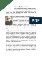 Historia del cooperativismo en República Dominicana 1ro