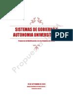 SISTEMAS DE GOBIERNO Y AUTONOMIA UNIVERSITARIA 2020