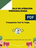 taxi ya protocolo de atencion personalizada