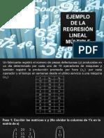 Ejemplo 1 - Estimación de la Ecuación de la Regresión Lineal Múltiple