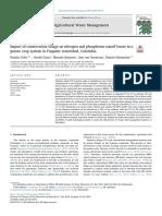 7. (ELSEVIER) Impacto de la labranza de conservación en las pérdidas por escorrentía de nitrógeno y fósforo en un sistema de cultivo de papa en la cuenca del Fuquene, Colombia