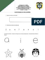 CUESTIONARIO DE PREESCOLAR
