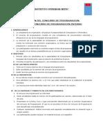 BASES DEL CONCURSO DE PROGRAMACION-INTERNO 2018