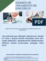 RÉGIMEN DE ARRENDAMIENTO DE INMUEBLES
