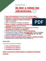 INDICACIONES DE LA ASIGNATURA DE BIOLOGÍA2