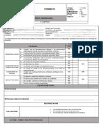 Formato de evaluación de proveedor