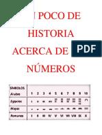 UN POCO DE HISTORIA ACERCA DE LOS NÚMEROS