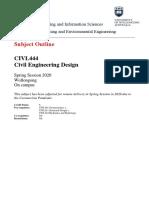 subject outline civl444