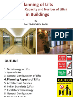 Planning of LIFTS in Buildings