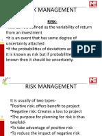 7. RISK MANAGEMENT