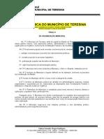 1. Lei Orgânica do Município de Teresina – atualizada até emenda nº 30 de 2019
