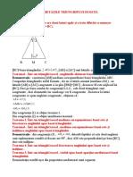 6-Proprietățile triunghiului isoscel .