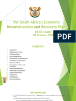 The South African Economic Reconstruction and Recovery Plan