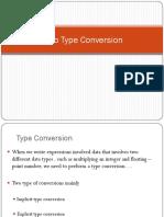 1.3b Type Conversion