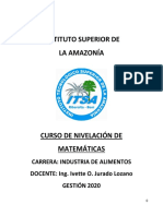 TEXTO DE NIVELACIÓN MATEMÁTICAS 1ER AÑO IND. ALM.