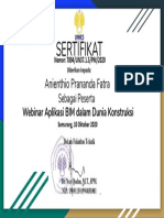 Sertifikat Webinar Building Information Management