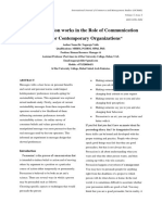 """How Persuasion works in the Role of Communication skills for Contemporary Organizations"""