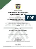 acta Técnico producción agrícola