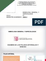 CLASE01-B SEMIOLOCIA CV 2020-2  EXAMEN DE LOS PULSOS ART. (1).pptx