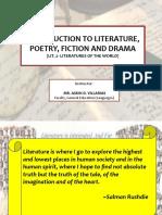 World Literature (Intro to Lit)