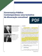 Governança pública contemporânea – uma tentativa de dissecação conceitual