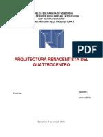 HISTORIA DE LA ARQUITECTURA II ENSAYO RENACENTISTA