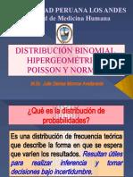9. Distribución Binomial, Hipergeométrica, Poisson y Normal - M. Sc. Julie Denise Monroe Avellaneda