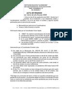 ACTA DE REUNION CIERRE DE AÑO ESCOLAR