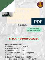 0. Etica y Deontologia Sílabo - Dr. Héctor Lozano Briceño