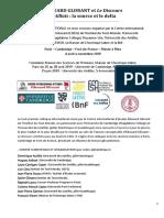 Colloque Le Discours antillais - Pré-programme