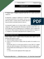 CS Foundation_Company Law I