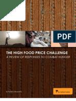 The High Food Price Challenge