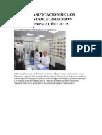 CLASIFICACIÓN DE LOS ESTABLECIMIENTOS FARMACÉUTICOS.docx