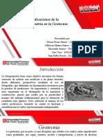 Exposición de fotogrametría, tema geotecnia en la fotogrametría