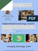 adaptive or assistive technology emerging technology innovative uses presentation leanne johnson