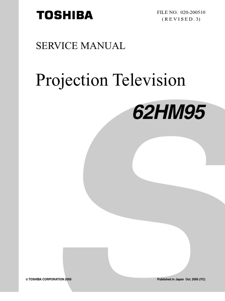 62hm95 Sm Rev3 Toshiba Dlp 52hm95 Wiring Diagram
