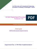 ECLR15 DSP lab -Exp. 3- FIR filter