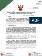 Directiva que regula la estructura de la Base Gráfica Registral de la Sunarp
