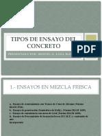 TIPOS DE ENSAYO DEL CONCRETO