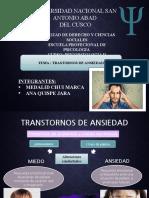 TRASTORNO DE ANSIEDAD  MODIFICACION