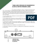 Procedimiento Para Leer Códigos de Diagnóstico Utilizando Luces en El Motor Perkins 1306e