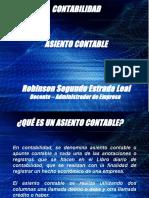 ASIENTOS CONTABLES 6 GRADO
