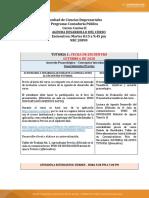 Agenda de TRabajo Costos II NRC 20890