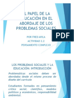 La educacion y los problemas sociales