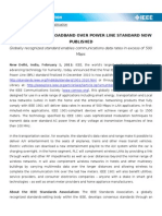 IEEE 1901 BPL Standard Published