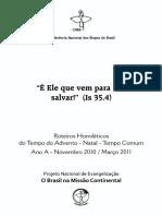 Ano a 1 Advento - Natal - Tempo Comum (Inicio) 2010-2011