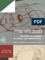 Desenho Acadêmico da cabeça pelo método Reilly-Prof Galber Rocha
