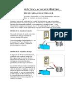 Medidas electricas con multimetro en AUTOMOCION